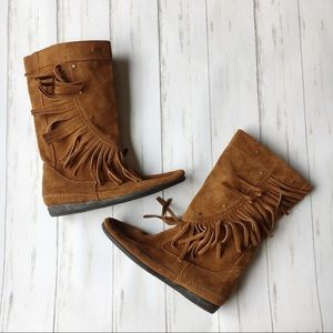 Minnetonka Shoes - Minnetonka Fringe Studded Boots